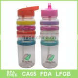 colourful silicon ring band plastic water bottle