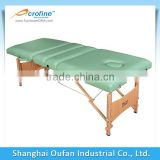 outdoor wooden massage table with 4 sections
