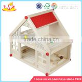 wholesale delicate baby wooden dollhouse playset stylish wooden dollhouse toy for kids W06A033