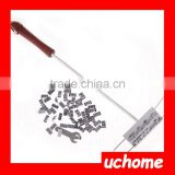 UCHOME DIY Barbecue Tools Branding Iron Stamp with Changeable Letters BBQ Branding Iron