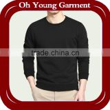 Wholesale men sweat shirt without hood in black