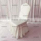 Swag Bottom Fitted Round Top White Spandex Banquet Chair Covers 50PCS A Lot Free Shipping