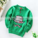 Baby Boys Cotton Sweaters 2015 Knitted Kids Pullover Sweater
