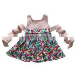 Cheap factory price baby girls clothes dress cute baby printed dresses boutique toddler girls frock children frocks