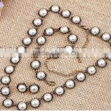 Imitated Pearl Fashion Jewelry Set,Necklace+Earrings+Bracelet,Fashion Pearl Necklace