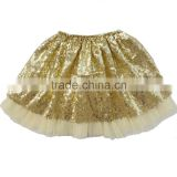 Latest skirt design picture for baby girl tutu skirt ruffle sequin and tulle causal wear shiny short dress in a good market