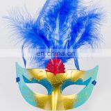 2015 Colorful feather venetian masquerade half face mask halloween dress ball eye mask sexy party mask