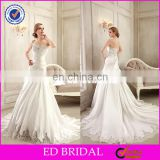 CE91 2015 Custom Made Simple Modern Cheap Mermaid Lace Trim Ruffles Beading Wedding Dresses 2015