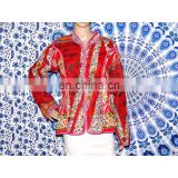 Indian Ethnic Hand Block Print Handmade Coat Jacket