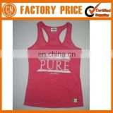 Customized Logo OEM Designed 100% Cotton Lady Singlet