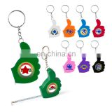 promotion thumb up shaped measure tape keychain