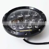 "dot sae e9 7 inch accessories 7"" LED head lamp with high low beam for jeep wrangler 4x4 off-road"