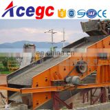 linear/circular vibrating screen classifying material into 3 size