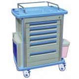 AG-MT001A1 Patient Wardroom Movable Plastic Hospital ABS Material Medicine Trolley