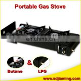 China Manufacturing Portable 2 Burner Gas Stove