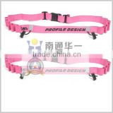 pink Custom Triathlon Race Number Belt, Custom Marathon Race Belt ,reflective race belt,adjustable running belt with gel holder