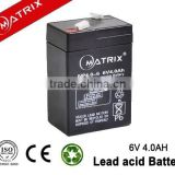 Many application usage battery 6v 4ah for electronic tools and lighting system