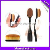 10Pc/Set Beauty Toothbrush Shaped Foundation Eyebrow Eyeliner Lip Facial Makeup Oval Brushes