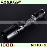 DAKSTAR Hot Selling MT16-3 1000LM Side Switch Stepless Diming 1101 police flashlight                                                                         Quality Choice