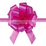 Wholesale gift packaging elastic ballon ribbon pompom giant pull bow