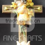 Resin Catholic Cross Religious Wall Ornament