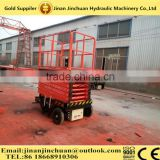 Safe Driving Mobile Electric Scissor Lift With Imported Electrical Part