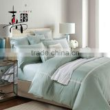 Luxury bed sheet set queen king size 4PCS pure colour colour 100% cotton print bedding set wholesale