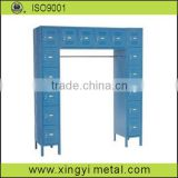 key lock locker/single two tier weld locker/metal louver locker