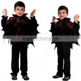 2016 new halloween children's boys cartoon vampires cosplay performance cloak one piece party clothes for children