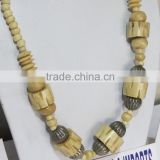 Tribal Bone carving Necklace beads Cow Horn Jewelry