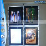 Guangdong direct manufacturer 2014 new product double faces crystal frame led light jewelry box