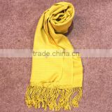 Fashionable jacquard bamboo scarf pure color shawl muslim hijab chinese silk scarf