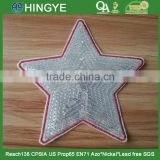 Star Shape Emboridery Sequin Applique Patches with heat seal backing -- S1424