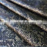 3D Embossed matt shiny snake skin faux pu synthetic leather fabric for clothing garment jacket amd skirt with competitive price