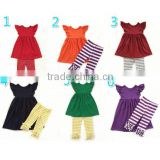 Fashion fall children boutique outfits baby girl boutique clothing sets kids ruffle sets