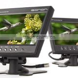 7 inch TFT-LCD car av rear view system LCD monitor 2 video/1 audio input