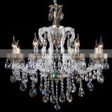 Interior Luxury Design Home Decorative Lamp White Maria Theresa Crystal Chandeliers Hanging Pendant Light Fxiture CZ6011/8