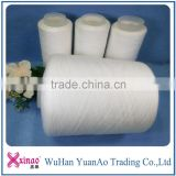 Raw White and dyed colour plastic dye tube yarn 100% Polyester ring spun yarn                                                                                                         Supplier's Choice