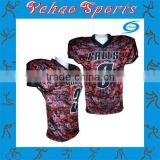 camouflage youth cheap sublimated american football jersey with custom design
