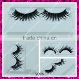 Own brand make up to sell wholesale strip black synthetic false eyelashes