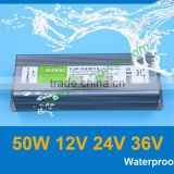 220v ac to 12v dc power adapter LED display screen lights adaptor 50w, ce rohs ip67 waterproof