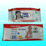hot sale customized aluminum foil side gusset with logo printing for baby/teen wipes packaging                                                                                                         Supplier's Choice