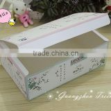 Custom printing folding colorful packaging paper box for food cake pizza convenient for transportation made in China