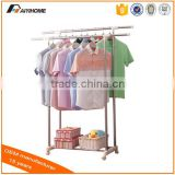 China Mainland best selling+best quality Indoor Double Rod Telescopic Hanger clothes hanger rack AY-DP43
