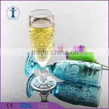 machine made high quality tulip-shaped colored stem champagne glass                                                                         Quality Choice