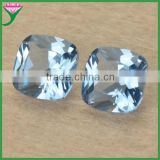 wholesale high quality 8*8mm light blue loose cushion cut spinel gemstone for jewelry