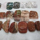 Red Jasper and zebra jasper Indian agate turtle flower fish butterfly and other theme animal carving pendant charm