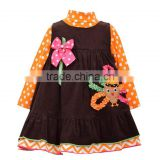 (CS805#) Hot sell new winter baby dress new year holidy children dress outfit
