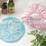 wholesale bathroon products china manufacturer, high quality satin shower ear caps for promotion