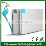 Hotly wholesale 2500mAH Super slim name card power bank for gift market